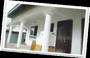 Eingang des neuen Operationsgebäudes